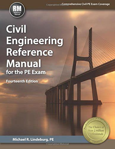 civil engineering reference manual for the pe 15th ed college and texbooks at a discount