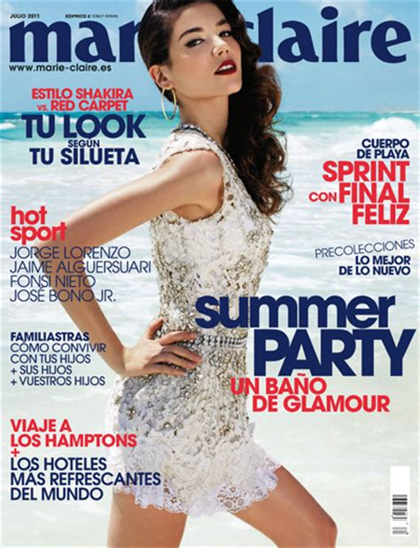 magazine layout en espanol magazine marie claire spain issue july 2011 cover model