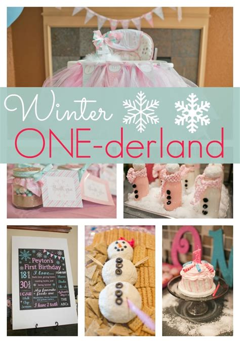 birthday themes for january winter one derland first birthday pretty my party