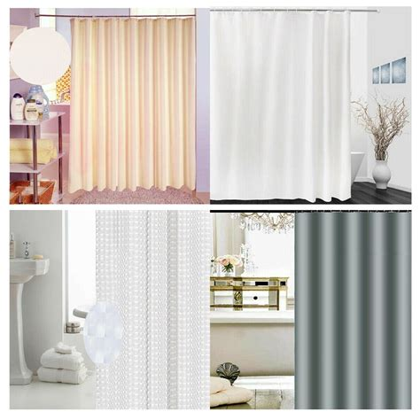 Fabric Shower Curtain Liner Solid White Pvc Free