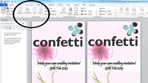 how to make cards in word how to make your own wedding invitations confetti co uk