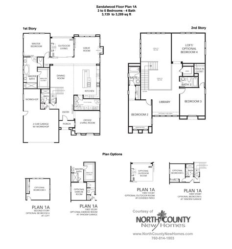 floor plan la sandalwood at la costa oaks floor plan 1a new homes in