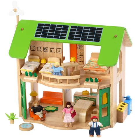 eco dolls house large wooden eco doll s house by me and freya notonthehighstreet com
