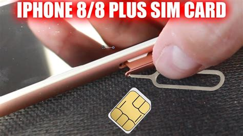 how to insert remove sim card iphone 8 iphone 8 plus