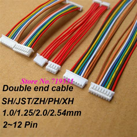 Kabel Micro Jst 6 Pin 1mm 10pcs jst sh zh xh ph 1 0mm 1 25mm 1 5mm 2 0mm 2 54mm 2 0 2 3 4 5 6 7 8 9 10 11 12 pin