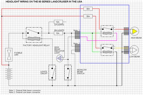 spotlight wiring diagram 100 series landcruiser spotlight