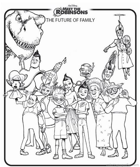 Meet The Robinsons Coloring Pages meet the robinsons coloring home