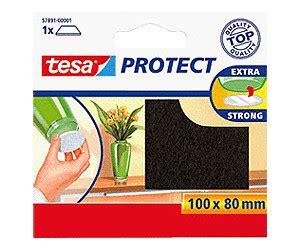 tesa 57891 01 protect filzgleiter braun (10 x 8 cm) ab 1