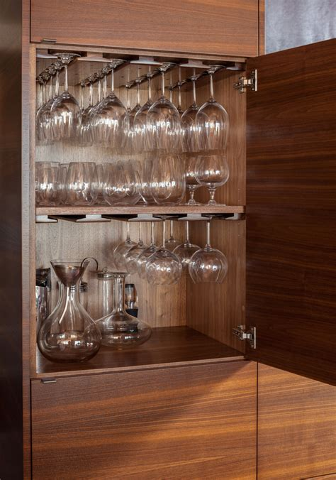 Wine Glass Storage Kitchen Traditional With Shore