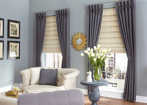 gardinen rollos wohnzimmer living room curtains family room window treatments