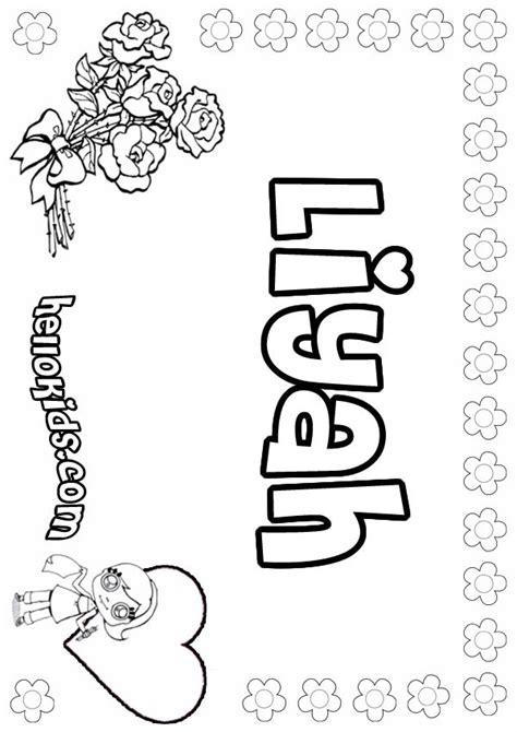 Liyah coloring pages - Hellokids.com