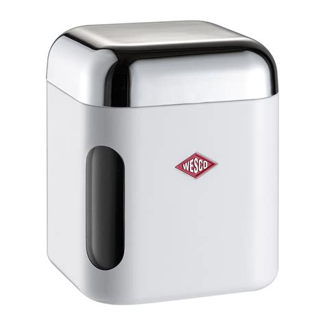 square kitchen canisters buy wesco square canister with window white amara