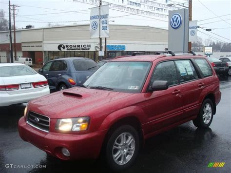 red subaru forester 2005 cayenne red pearl subaru forester 2 5 xt 1830166
