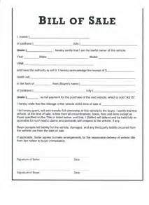 Bill Of Sale Agreement Template by Free Printable Bill Of Sale Templates Form Generic