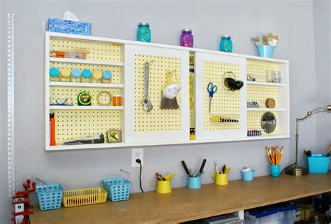 diy pegboard remodelaholic build an organized pegboard tool cabinet and simple workbench
