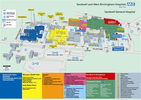 Park West Floor Plan by Sandwell General Hospital Sandwell And West Birmingham