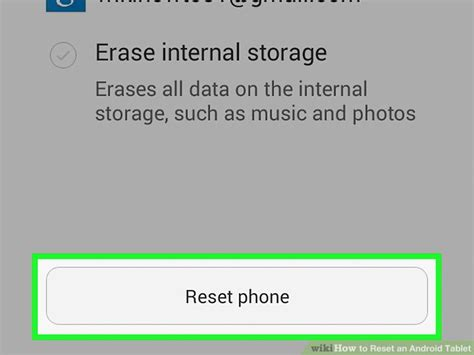 reset android with sd card how to reset an android tablet 6 steps with pictures