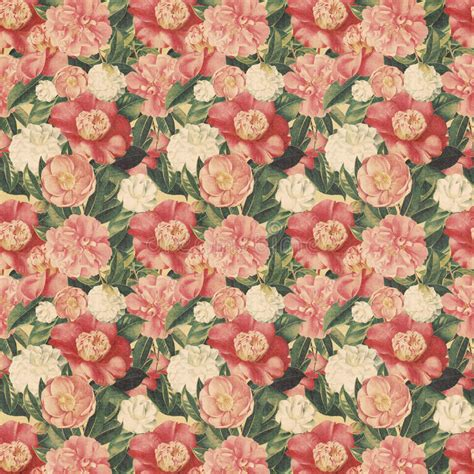 Vintage Style Floral Background With Pink Blooms Royalty | vintage style floral background with pink blooms stock