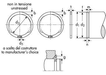 sedi seeger anelli d arresto concentrici tipo av per alberi