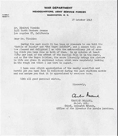 Howard Acceptance Letter Date File Tiomkin Dimitri Letter Jpg Wikimedia Commons