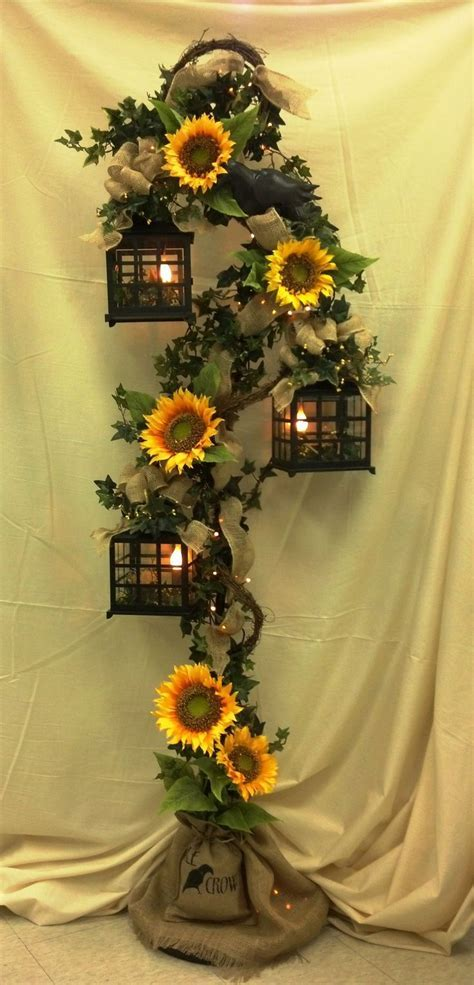 burlap and sunflower wedding ideas   Gorgeous 3 Tier