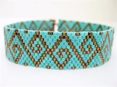 peyote beaded bracelets swirls peyote bracelet beaded bracelet in brown and