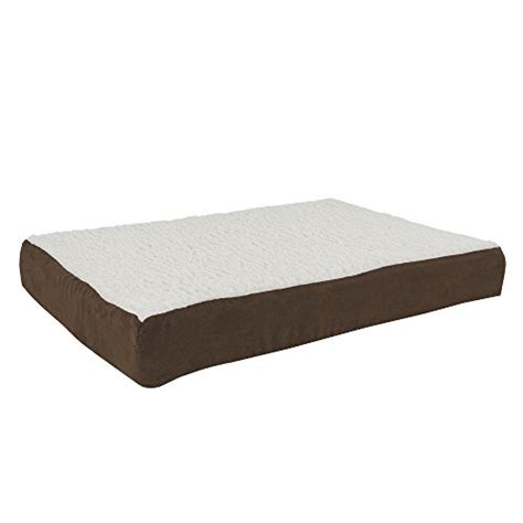 orthopedic sherpa top pet bed  memory foam  removable cover xx brown  petmaker