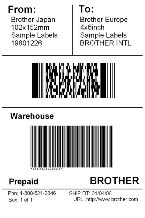 International Shipping Label Template brotherusa your source for home and office product