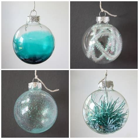 diy decorations baubles ways to fill a glass bauble