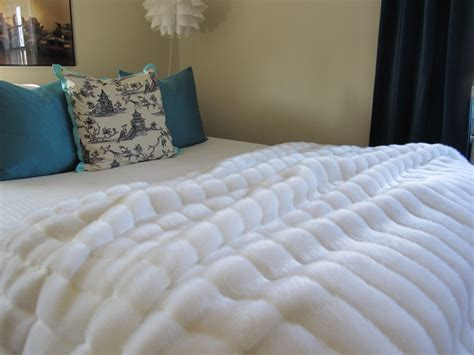 white fur comforter the ultimate luxury white mink faux fur throw by nottooshaggy