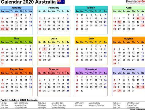 australia calendar   printable  templates