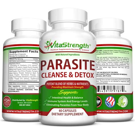 Best Parasite Detox by Vitastrength Premium Parasite Cleanse