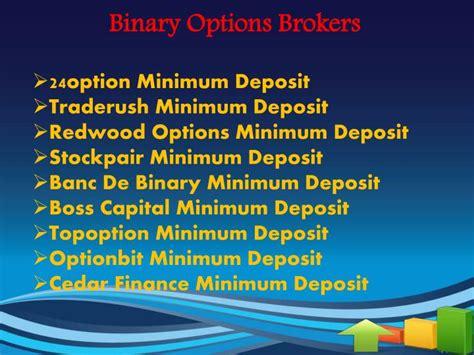 banc de binary minimum deposit ppt binary options minimum deposit powerpoint