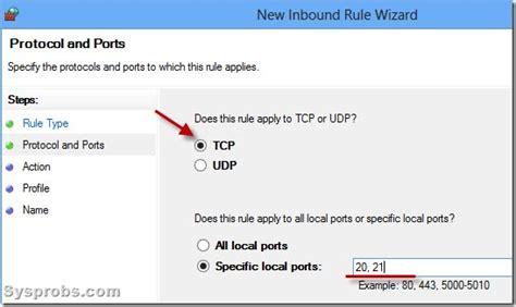 tftp port windows 7 ftp server setup firewall