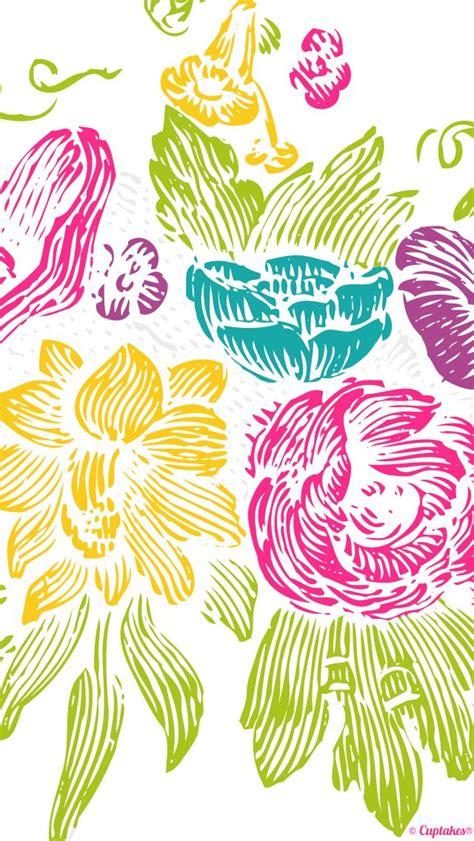 cute flower paint wallpaper cuptakes wallpapers