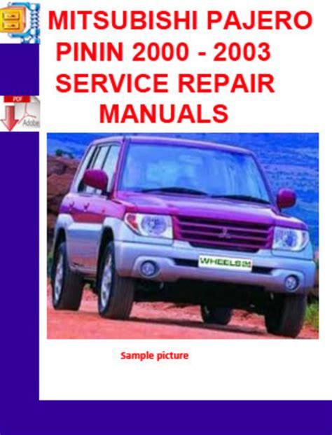 free online auto service manuals 2000 mitsubishi pajero transmission control service manual 2000 2003 mitsubishi pajero pinin mitsubishi shogun pinin estate review 2000