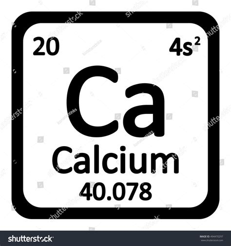 Calcium On Periodic Table by Periodic Table Element Calcium Icon On Stock Vector