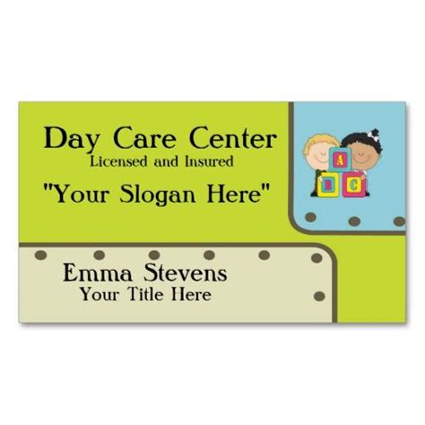 buisness cards aand templates for child care child care abc business card template card
