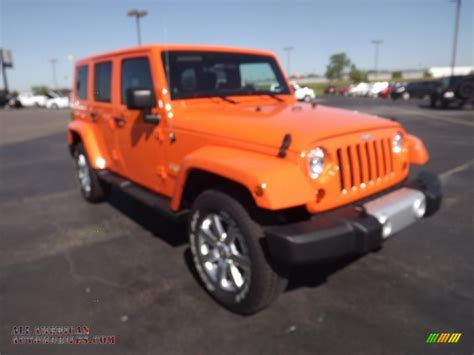 jeep orange crush orange crush jeep wrangler unlimited pictures to pin on