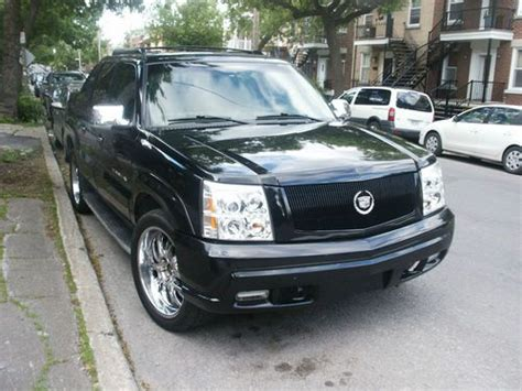 find used 2002 cadillac escalade pick up ext tv dvd gps 22 inch wheels in montreal quebec canada find used 2002 cadillac escalade pick up ext tv dvd gps 22 inch wheels in montreal quebec canada