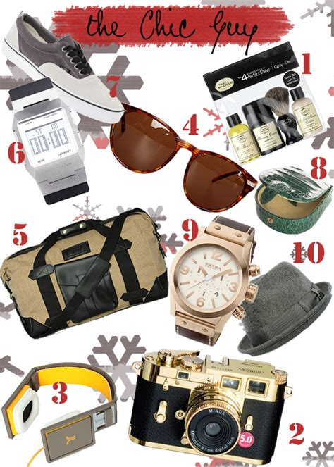gifts for guys chic gift guide for chic intuition starting the style revolution