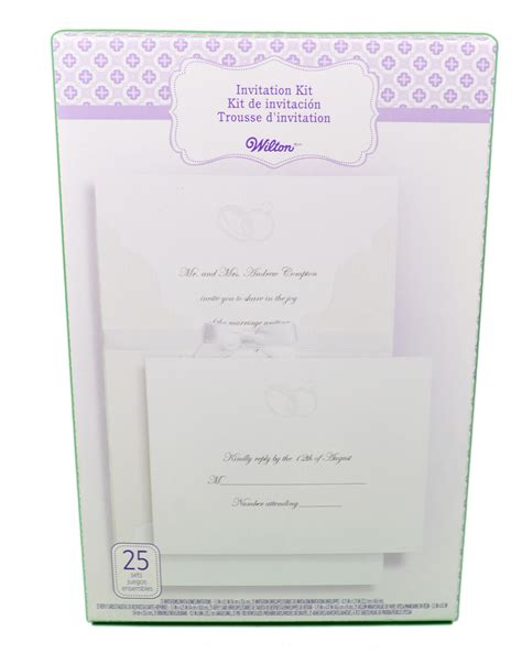 printable wedding invitations wilton wilton wedding invitation kit embellished rings 25 count