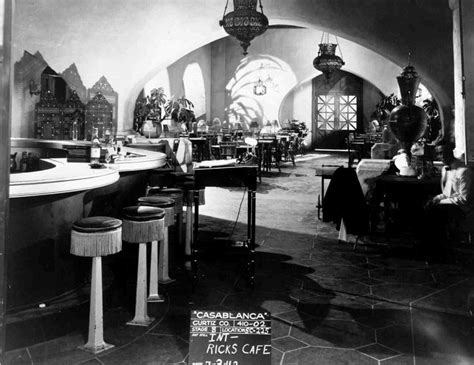 themes in the film casablanca set shot of rick s cafe humphrey bogart as rick blaine
