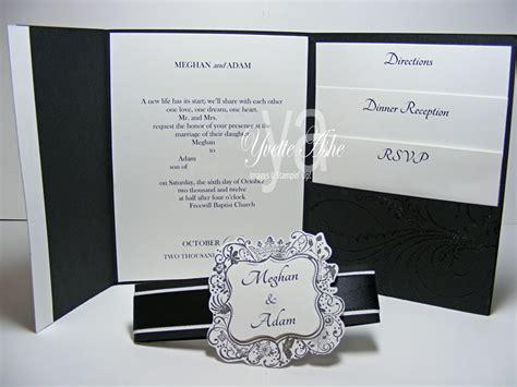 inside of wedding invitation wedding invitation tri fold inside by yvette at