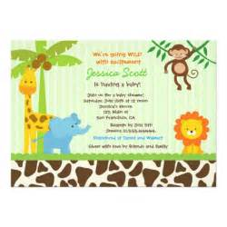 safari jungle baby shower invitations 5 quot x 7 quot invitation card zazzle