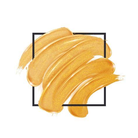 pincel cuadrado photoshop pinceladas doradas dentro de un cuadrado descargar