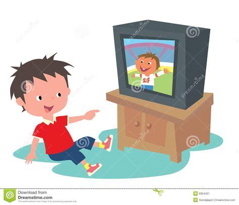 imagenes animadas viendo tv estoy en la tv stock de ilustraci 243 n ilustraci 243 n de tubo