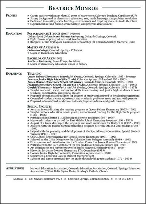 teachers resume sample 1000 images about work on pinterest teaching resume free homeroom teacher resume example