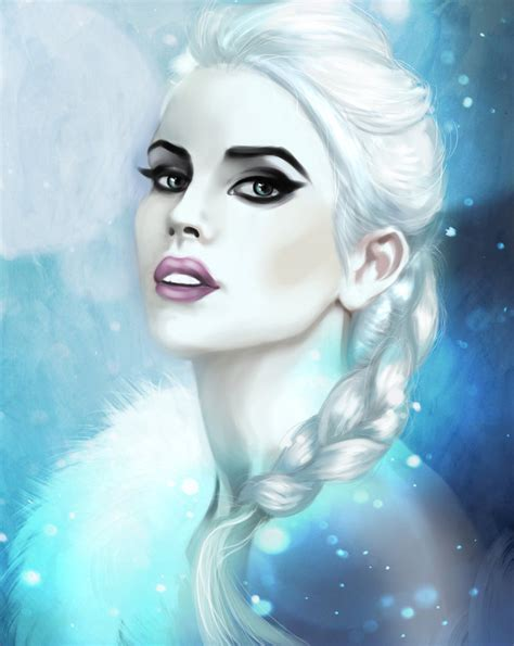 painting elsa and frozen by martadewinter on deviantart