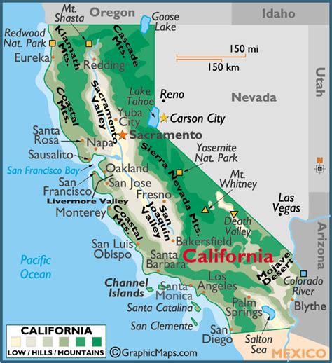 california map color california large color map